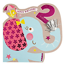 Buy Hotch Potch Elephant 2nd Birthday Card Online at johnlewis.com