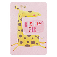 Buy James Ellis Stevens Giraffe Birthday Card Online at johnlewis.com