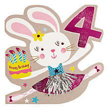 Buy Hotch Potch Bunny 4th Birthday Card Online at johnlewis.com