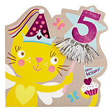 Buy Hotch Potch Kitten 5th Birthday Card Online at johnlewis.com