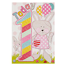 Buy Laura Darrington Bunny 1st Birthday Card Online at johnlewis.com