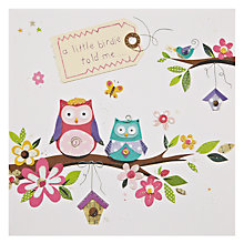 Buy Mint Owl Party Birthday Card Online at johnlewis.com