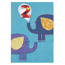 Buy Pigment Elephants 2nd Birthday Card Online at johnlewis.com
