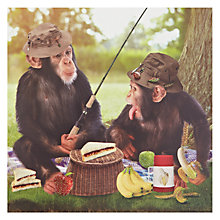 Buy Card Mix Chimps Fishing Greeting Card Online at johnlewis.com