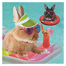 Buy Card Mix Bunnies In Pool Greeting Card Online at johnlewis.com