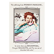 Buy Pigment Women's Problems Greeting Card Online at johnlewis.com