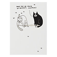 Buy Hotch Potch No Sense of Decency Birthday Card Online at johnlewis.com