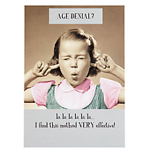 Buy Pigment Age Denial Greeting Card Online at johnlewis.com