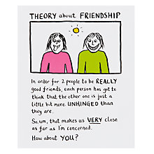 Buy Really Good Theory of Friendship Birthday Card Online at johnlewis.com
