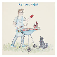 Buy Art Beat License To Grill Greeting Card Online at johnlewis.com