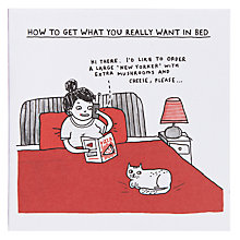 Buy Urban Graphic Want In Bed Greeting Card Online at johnlewis.com
