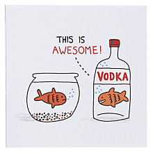 Buy Urban Graphic Vodka Goldfish Greeting Card Online at johnlewis.com