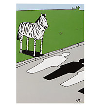 Buy Paper Rose Zebra Crossing Greeting Card Online at johnlewis.com