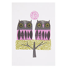 Buy Art Press Two Owls Greeting Card Online at johnlewis.com