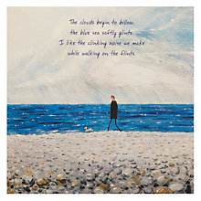 Buy Art Beat The Pebbly Beach Greeting Card Online at johnlewis.com