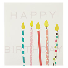 Buy Caroline Gardner Candles Birthday Card Online at johnlewis.com