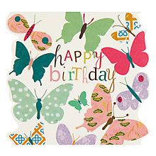 Buy Caroline Gardner Butterflies Birthday Card Online at johnlewis.com