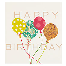 Buy Caroline Gardner Balloons Birthday Card Online at johnlewis.com
