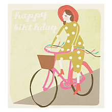Buy Caroline Gardner Bicycle Birthday Card Online at johnlewis.com