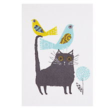 Buy Art Press Cat with Birds Greeting Card Online at johnlewis.com