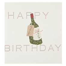 Buy Caroline Gardner Bottle Birthday Card Online at johnlewis.com