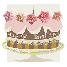 Buy Caroline Gardner Birthday Cake Birthday Card Online at johnlewis.com