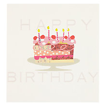 Buy Caroline Gardner Cake Greeting Card Online at johnlewis.com