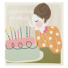 Buy Caroline Gardner Birthday Wishes Birthday Card Online at johnlewis.com