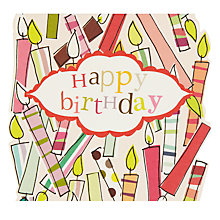 Buy Caroline Gardner Candle Wreath Birthday Card Online at johnlewis.com