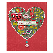 Buy Paperhouse Love Heart Birthday Card Online at johnlewis.com