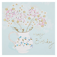 Buy Woodmansterne Flowers in Jug Birthday Card Online at johnlewis.com