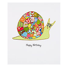 Buy Portfolio Patchwork Snail Birthday Card Online at johnlewis.com