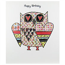 Buy Portfolio Owl Of Love Birthday Card Online at johnlewis.com