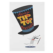 Buy Art File Dog Top Hat Birthday Card Online at johnlewis.com
