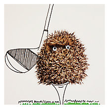 Buy Paper Rose Hedgehog Golf Greeting Card Online at johnlewis.com