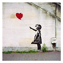 Buy Card Mix Girl with Red Balloon Greeting Card Online at johnlewis.com