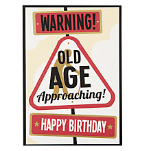 Buy Hotch Potch Warning Old Age Birthday Card Online at johnlewis.com