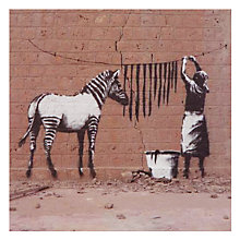 Buy Card Mix Woman and Zebra Stripes Greeting Card Online at johnlewis.com