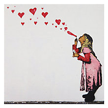 Buy Woodmansterne Girl Blowing Heart Bubbles Greeting Card Online at johnlewis.com