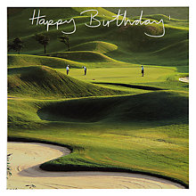 Buy Woodmansterne Golf Course Birthday Card Online at johnlewis.com
