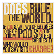 Buy Urban Graphic Dogs Rule in the World Greeting Card Online at johnlewis.com
