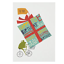 Buy Art File Frog On Bike Birthday Card Online at johnlewis.com