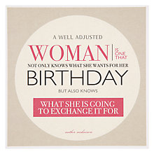 Buy Urban Graphic Well Adjusted Woman Greeting Card Online at johnlewis.com