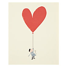 Buy Art File Heart Balloon Birthday Card Online at johnlewis.com