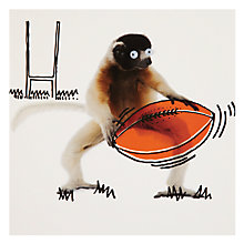 Buy Paper Rose Lemur Greeting Card Online at johnlewis.com
