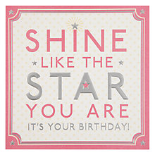 Buy Hotch Potch Shine Like Star Birthday Card Online at johnlewis.com