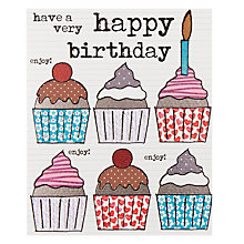 Buy Really Good Cupcakes Birthday Card Online at johnlewis.com