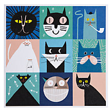 Buy Urban Graphic Feline Fine Greeting Card Online at johnlewis.com