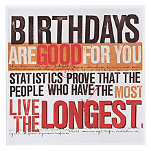 Buy Urban Graphic Good For You Birthday Card Online at johnlewis.com