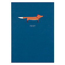 Buy Art File Fox Greeting Card Online at johnlewis.com
